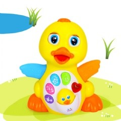 可愛鴨鴨移動萬向聲光音樂玩具