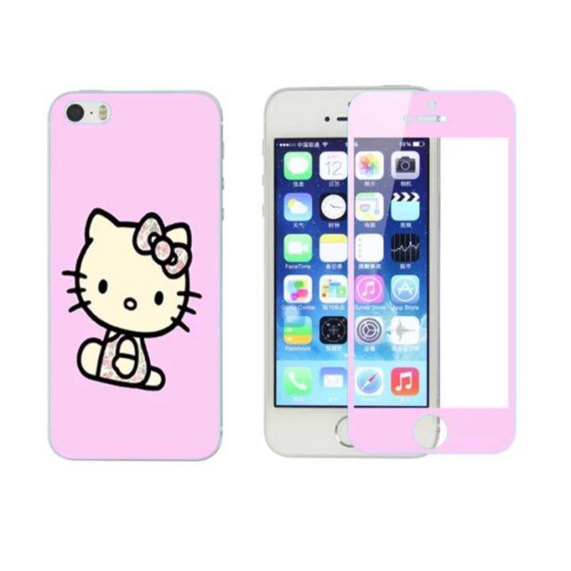i6 i6s 卡通彩膜玻璃鋼膜玻璃膜防爆手機保護貼手機鋼化膜Iphone6 保護膜高清保護