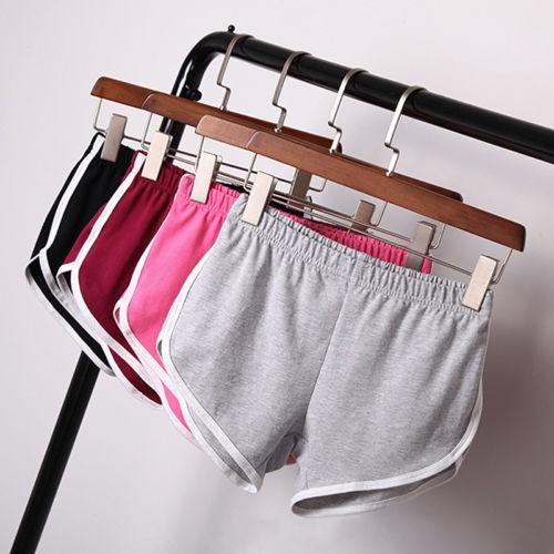 超好穿✨居家純棉寬鬆休閒 跑步健身瑜伽大碼闊腿褲熱褲短褲Small