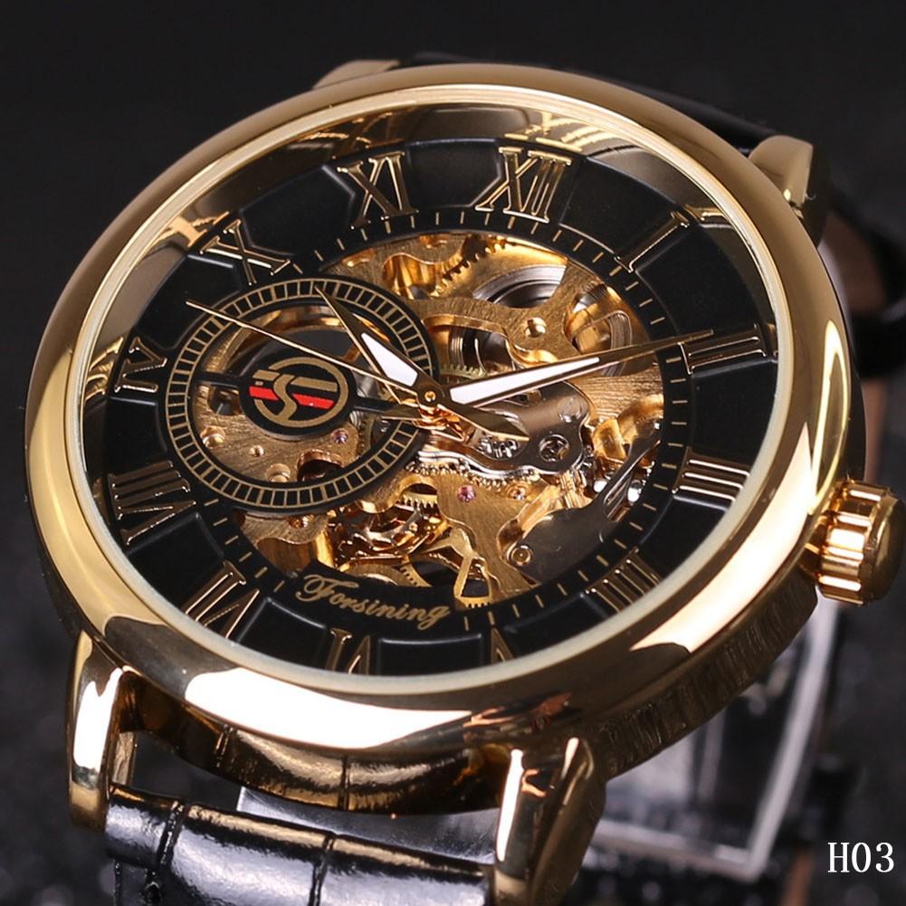 凡庫 爆款JARAGAR WINNER FORSINING 手錶鏤空手動機械表皮帶表