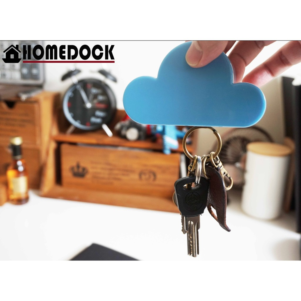 HOMEDOCK 雲朵鑰匙鎖匙磁鐵收納器鑰匙掛勾鑰匙圈鎖匙圈磁鐵收納