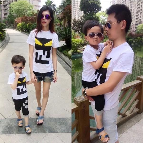 2016 qzz 親子服裝韓三口大碼全家親子母女裝嬰兒加肥夏裝T 恤潮