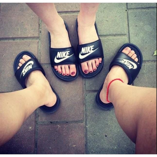 ~豬豬老闆~Nike Benassi JDI 黑底白字拖鞋~ ~男女鞋23cm 29cm