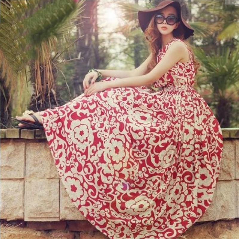 闆闆放價啦 女裝波西米亞雪紡長連身裙洋裝長洋裝