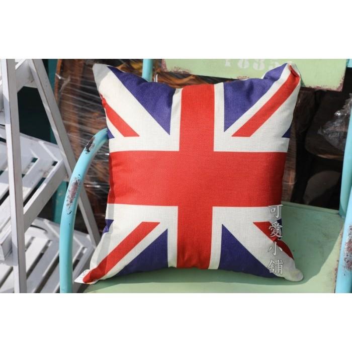 台中~可愛小舖傢俱家飾 ~歐英美式復古鄉村風工業風英倫風英國美國國旗抱枕套枕頭套床邊客廳沙