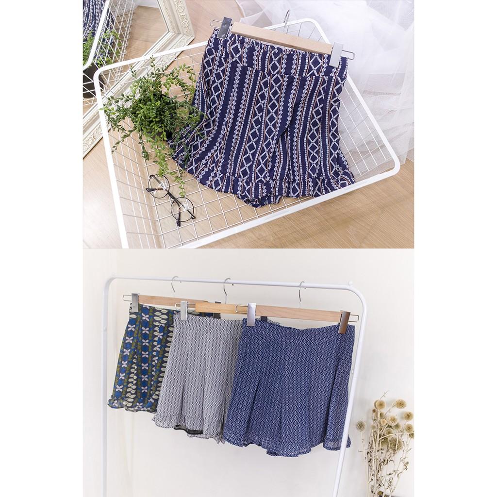 Desire Shop ‧幾何圖騰下擺荷葉雪紡短褲~BG51801 ~夏日新品