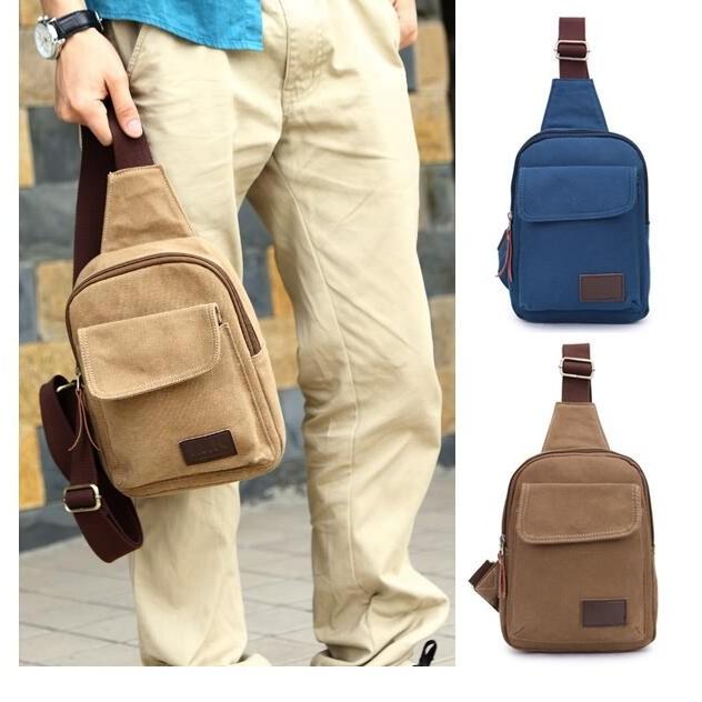 男士胸包 休閒帆布男包小包包跑步 包帆布腰包側背腰包休閒包包手機包手提包7607
