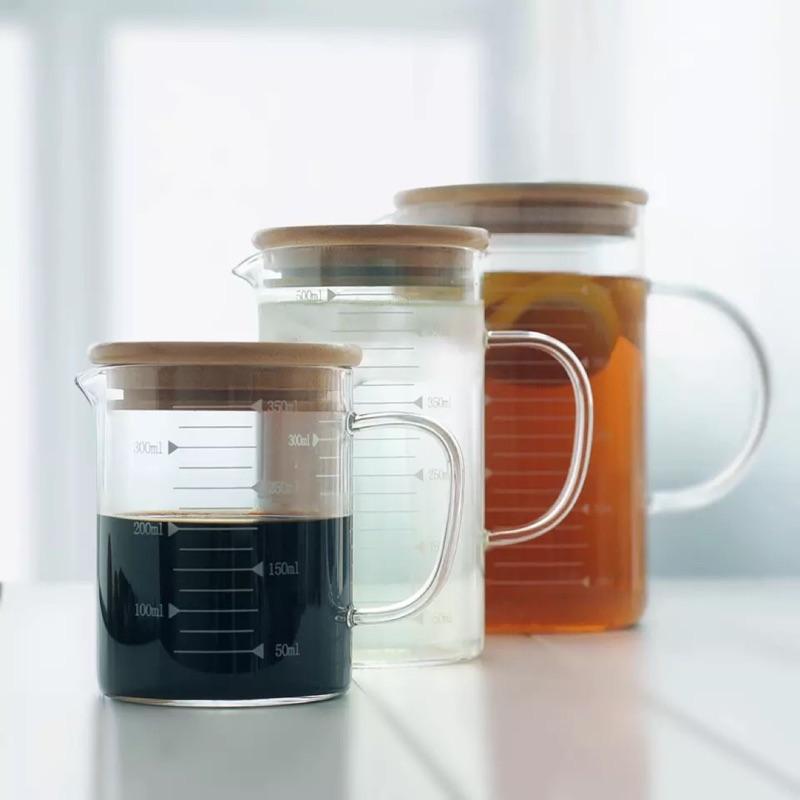 歐式無鉛高硼耐熱玻璃量杯壺