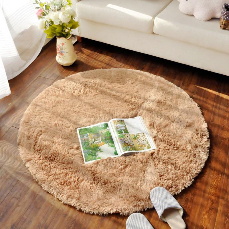 ~限宅配郵寄多色多尺寸~舒適超柔圓形絨毛地毯地墊6018