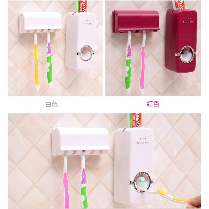 懶人牙膏擠壓神器牙刷架套裝