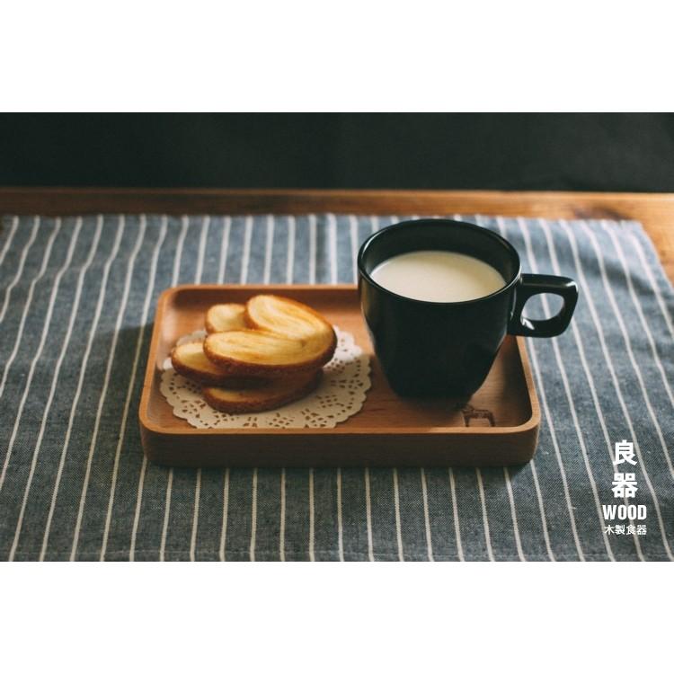 Zakka 雜貨木質實木櫸木無漆環保方形木碟木盤整木長方形、正方形盤子托盤蛋糕下午茶點心餅