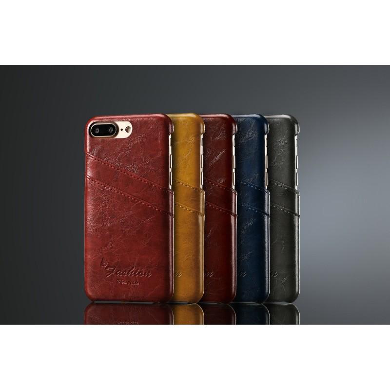 Apple IPhone7 Plus 牛皮真皮 背蓋後殼後蓋背殼手機殼皮套保護套保護殼插卡