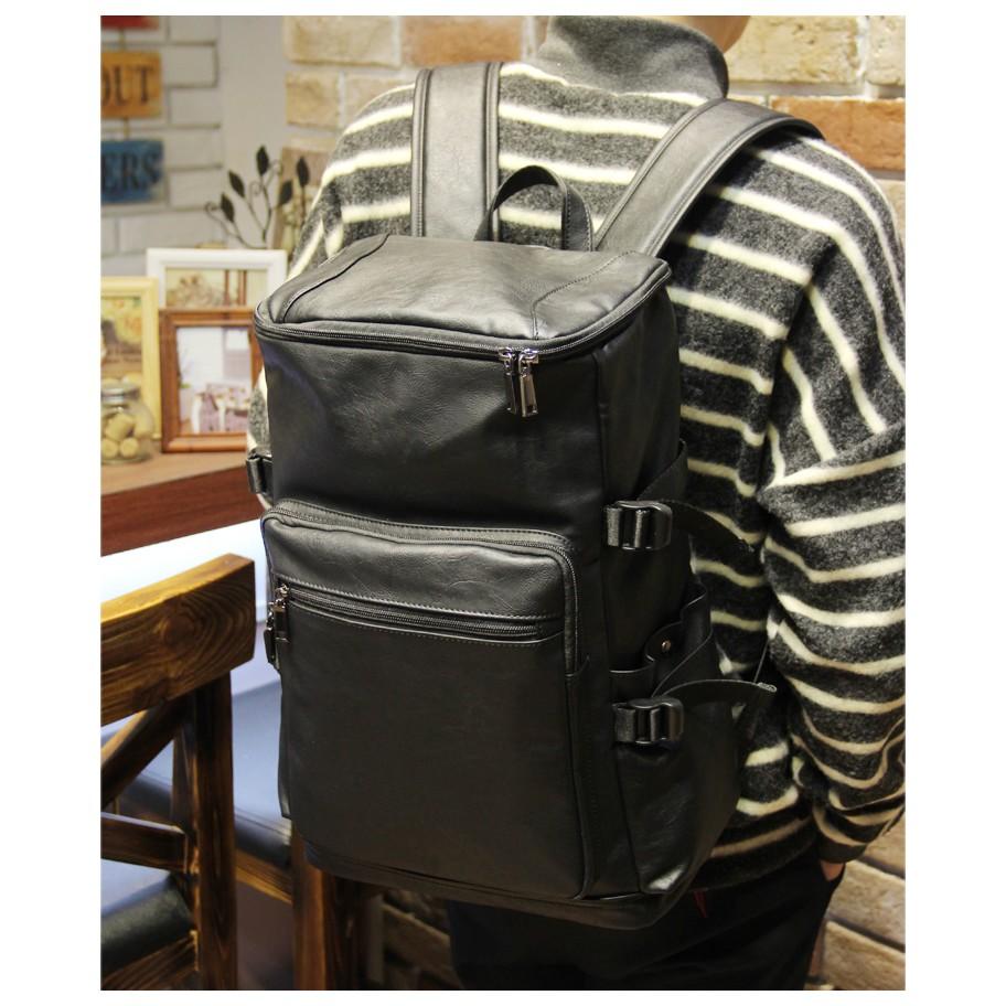 大容量雙肩包男 學生 潮流翻蓋大學生書包旅行包行李包書包肩背包側背包公事包男商務包男生包包