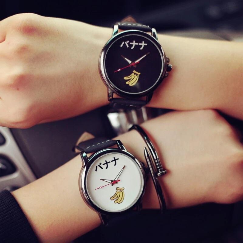 現韓國原宿zipper 簡約風手錶可愛潮流學生錶韓國錶水果錶 錶卡通錶香蕉大學生韓國三眼錶
