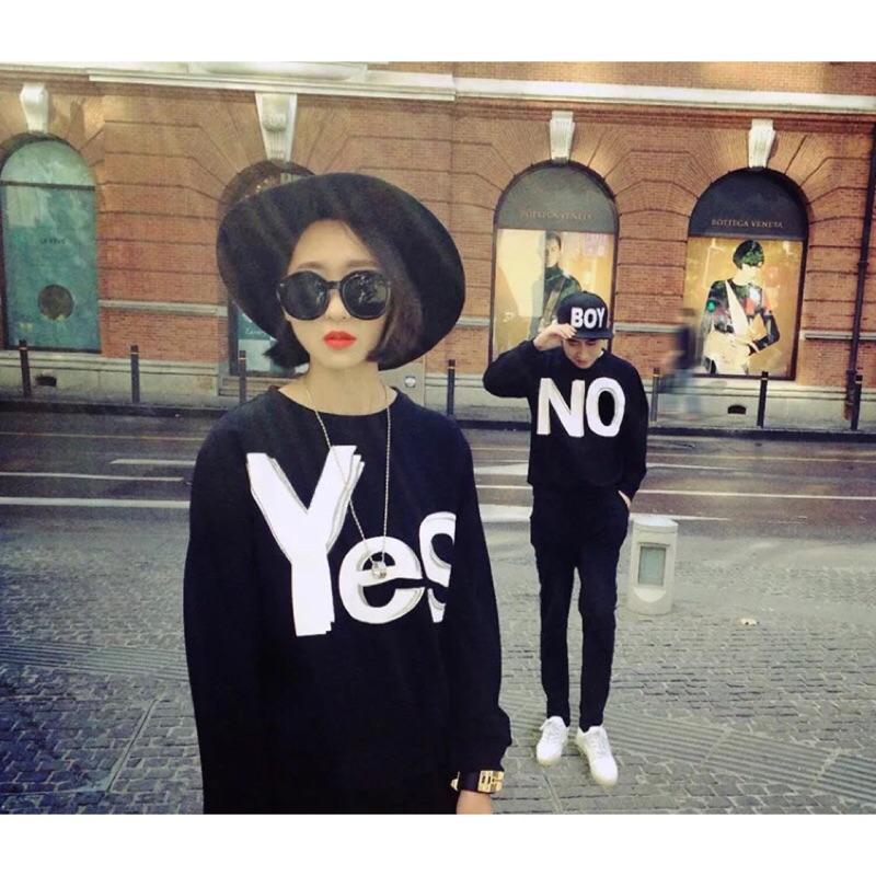 yes  Yes No 情侶閨蜜上衣長袖均碼❣️情侶穿搭 情侶長袖衫情侶長袖衣服情侶穿搭情