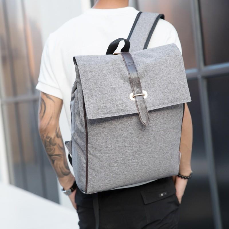 0A 純色優品小鋪 男包男士雙肩包學院帆布背包中學生書包 電腦包旅行包