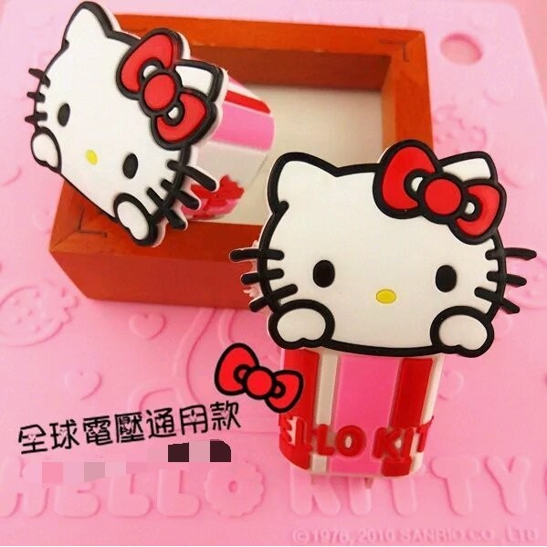 ⭐️P M Shop ⭐️~Hello Kitty 手機充 USB 充電插座~插頭三星iP