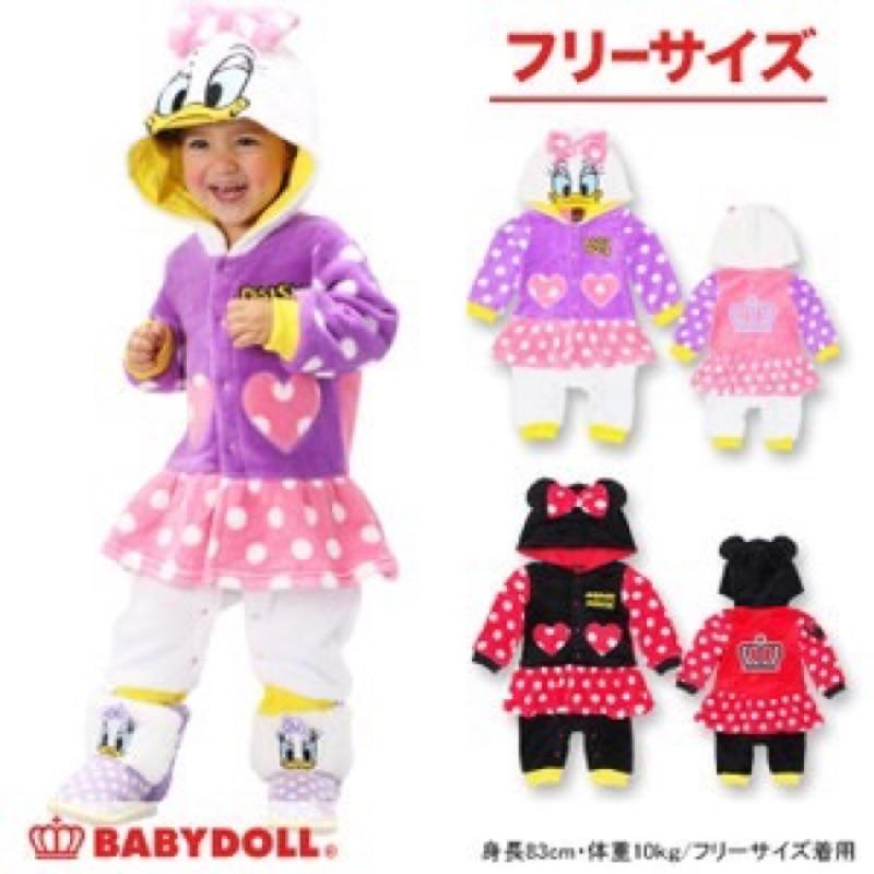 BABYDOLL 包屁衣連身衣超可愛米妮黛西保暖♪迪士尼拍照服嬰兒小孩disney 米奇奇