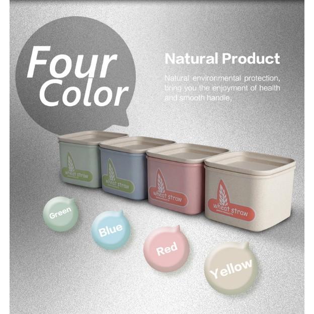 T ~5014 小麥儲物罐900ML ~Ymer 小麥環保雜糧食品塑膠密封罐廚房保鮮盒收納