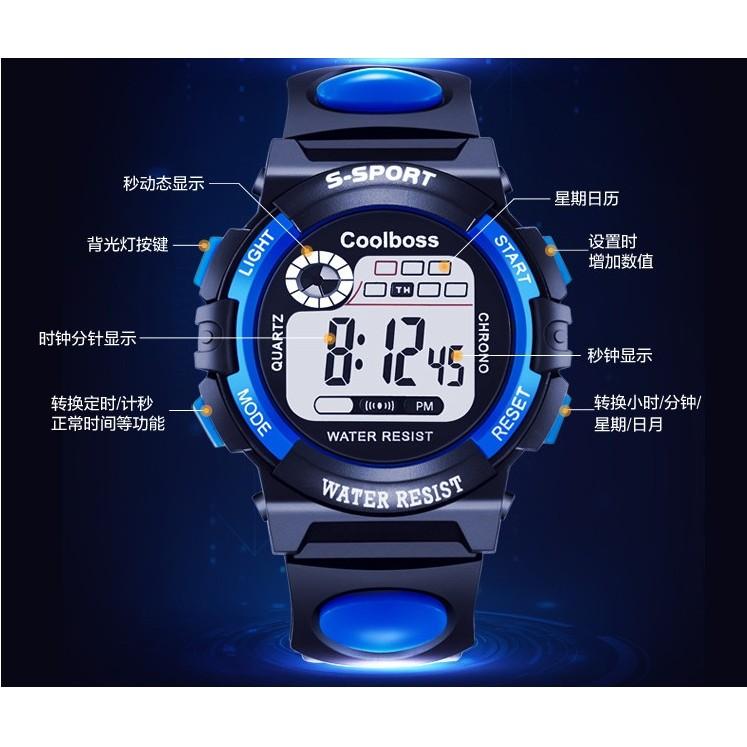 兒童 手錶男孩女孩防水夜光小學生 電子錶