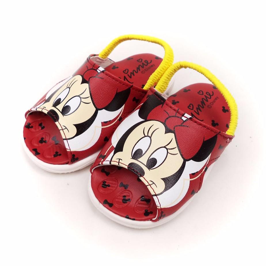 童鞋迪士尼Disney 米妮可拆卸綁帶畢畢鞋寶寶鞋453268 紅色