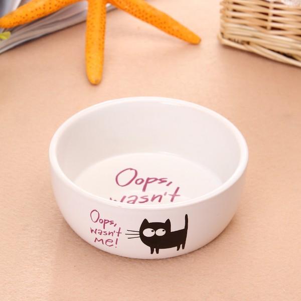 貓狗碗飼料碗生食陶瓷碗貓奴