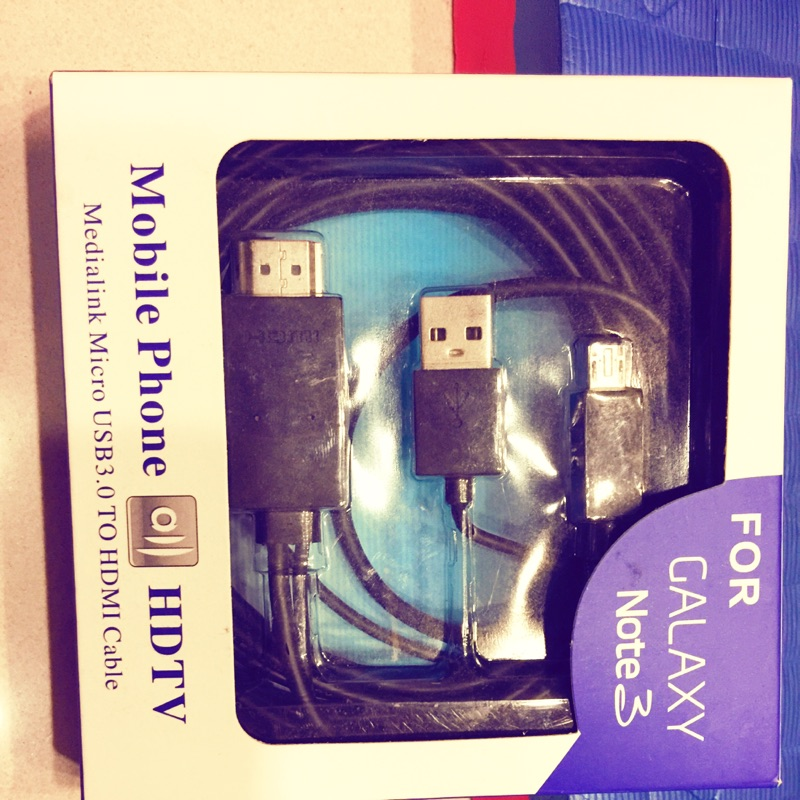 三星Note3N7100 HDTV MHL 轉HDMI 手機連接電視高清轉接線