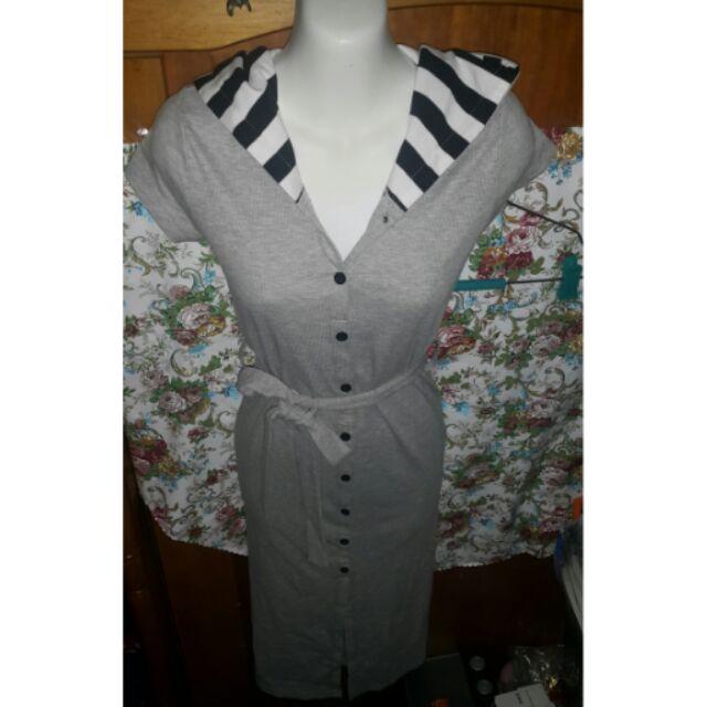 VRIN ESO ROOM 短袖居家休閒舒適綁帶開叉洋裝長洋長裙(K 橘標:198 )