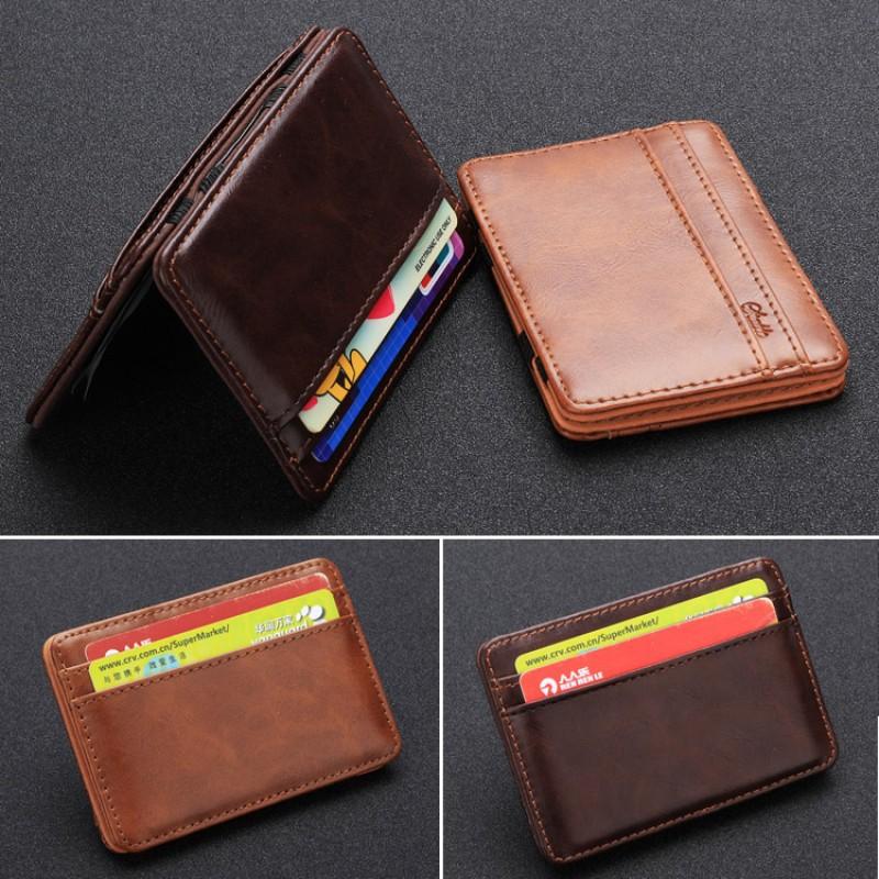 男子有趣魔術卡包折疊錢包