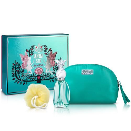 【ANNA SUI】許願精靈彩漾禮盒-(香水30ml+化妝包+沐浴球+B紙袋)