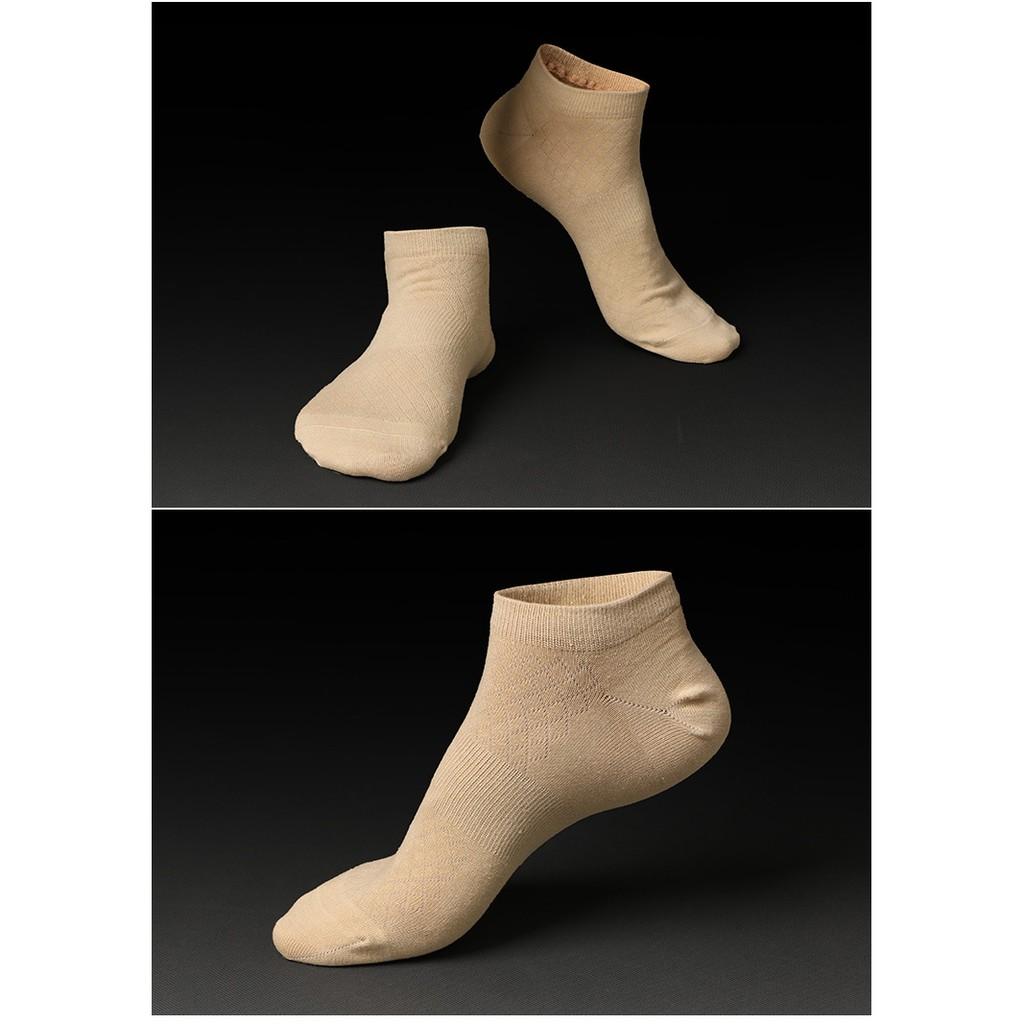 200 針純色春秋戶外 襪男生糖果色船襪短筒純棉男士襪子短襪