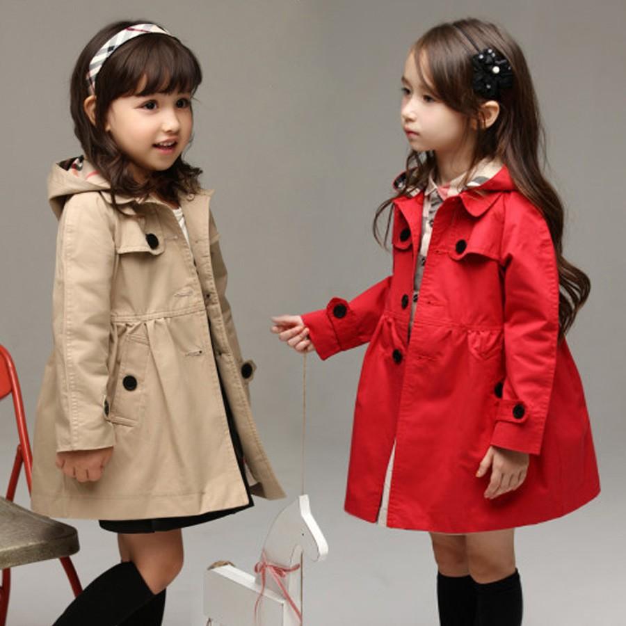 女童春 裝加厚外套英倫女童風衣小中大童兒童風衣秋裝外套