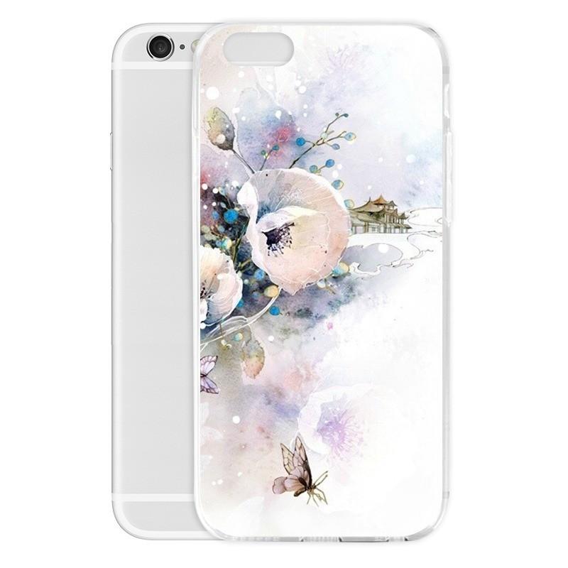 蘋果三星夯手機保護殼日系花卉 彩印手機套iPhone Samsung