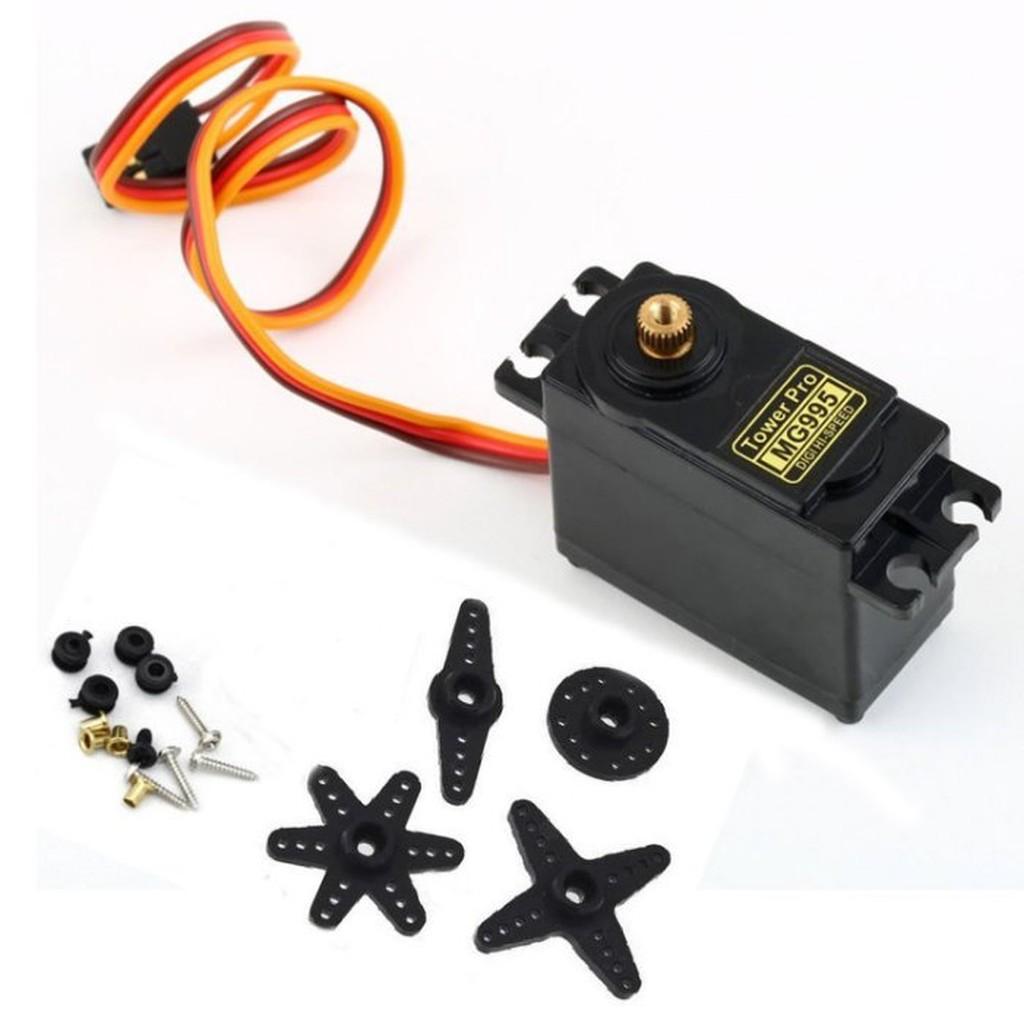 ►46 ◄輝盛MG995 雙足機器人機械手遙控車55G 金屬銅齒輪舵機伺服器Arduino