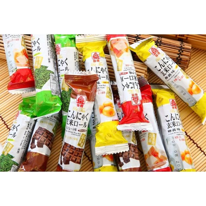 ~K J 的雜貨鋪~北田蒟蒻糙米捲(蛋黃、海苔、牛奶、巧克力或綜合口味)600 公克
