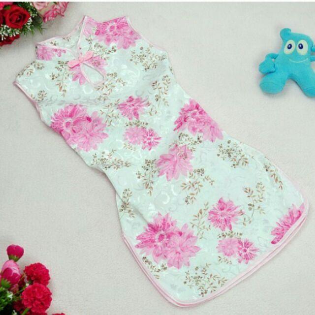 草莓媽媽女童旗袍唐裝中國服生日禮服表演服拍照服萬聖節服飾水滴扣款
