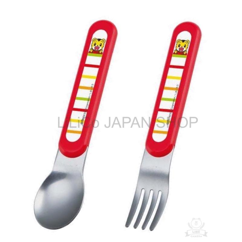 ~LiLiCo 日貨小舖~ 製可愛巧虎島巧虎不鏽鋼湯匙叉子紅底條紋兒童餐具