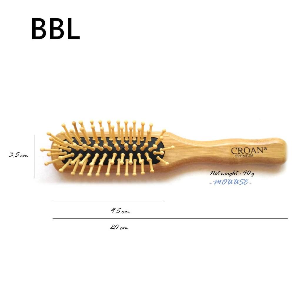 ~按摩頭皮~短髮男性髮量少 竹製圓頭齒梳底部軟墊 竹製長板梳梳子BBL