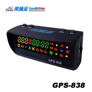 版南極星GPS 838 全彩雙顯面板衛星定位超速警示器測速器九代四核引擎 貨 製