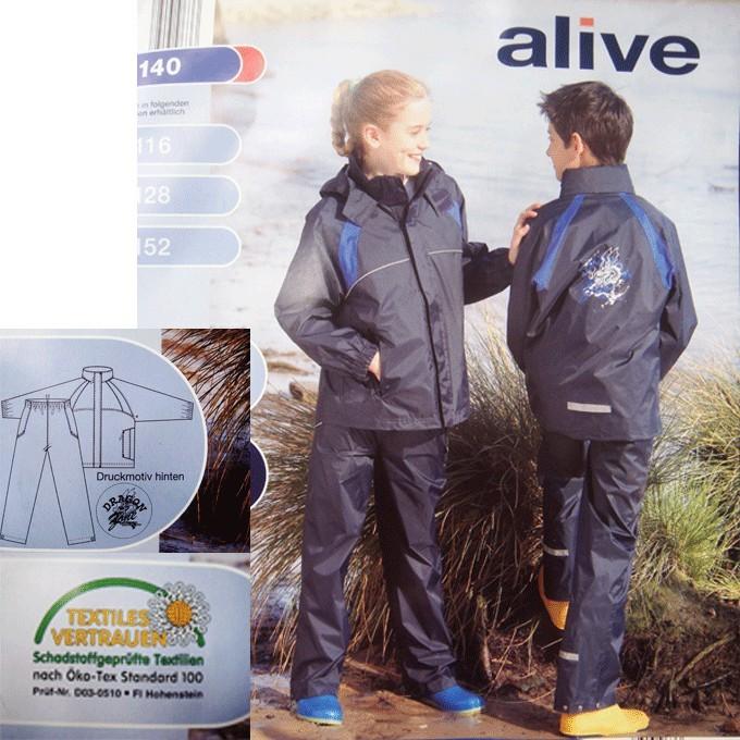 德國品牌ALIVE ~兒童雨衣套裝沙灘褲 服 ˙105 140CM 外貿出口