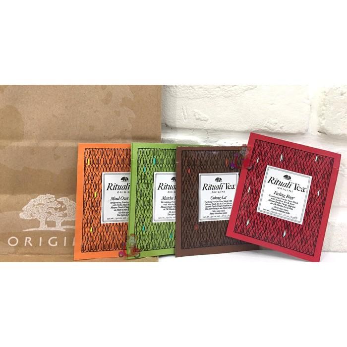 阿猴達可達ORIGINS 品木宣言愛找茶面膜玫瑰烏龍純靜瑪黛抹茶體驗包 120 元