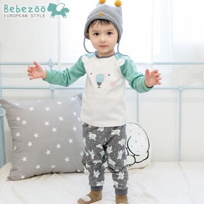 ⛱ ⛱韓國Bebezoo 男童 款北極熊耳朵純棉長袖家居服睡衣套裝