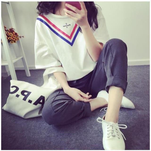 短袖t 恤韓系寬鬆圓領學生裝 女裝學院風短袖上衣