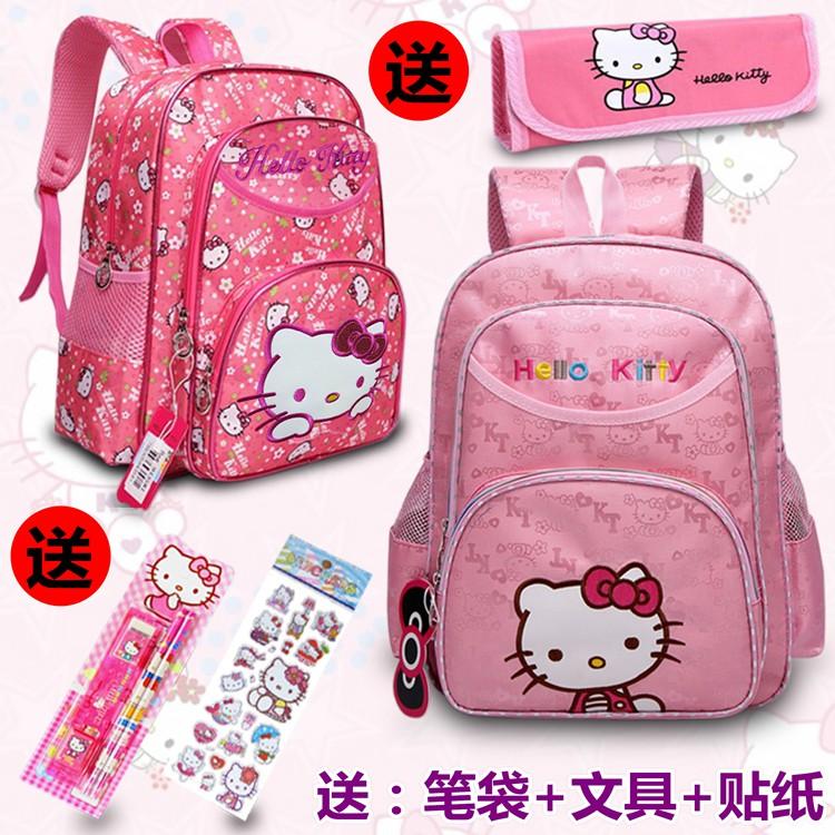 ~ ~兒童Hello Kitty 凱蒂貓書包幼兒園書包小學生書包女款1 3 年級書包兒童背