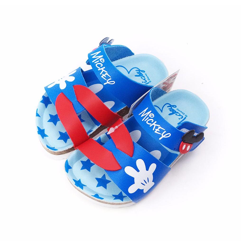 童鞋Disney 迪士尼米奇 手套藍色兒童氣墊拖鞋464724 藍色14 17 號