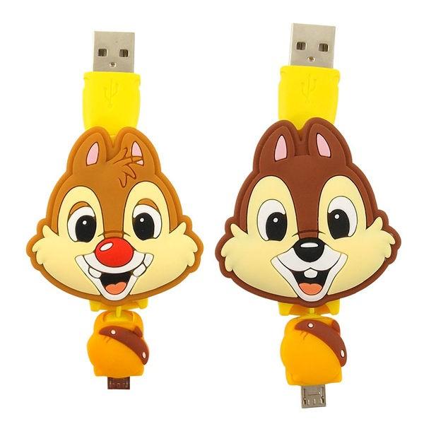 ~Disney ~Micro USB 伸縮傳輸線奇奇蒂蒂