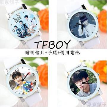 手錶tfboys 王俊凱女學生同款王源易烊千璽石英表周邊 情侶~東京舖子~~現 ~