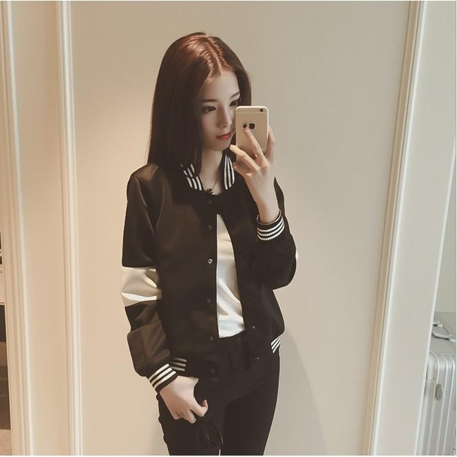 棒球服女夾克春裝 長袖開衫短款外套學生情侶衛衣棒球衫潮
