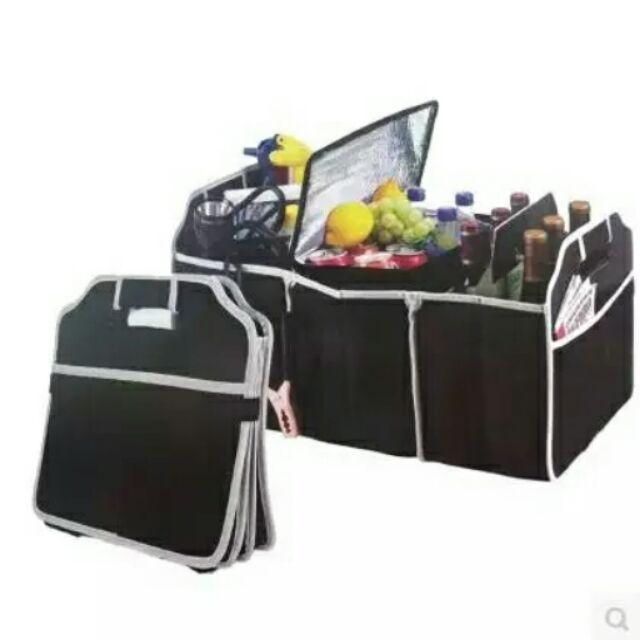 可折疊汽車收納箱後備箱儲物箱車載皮革大置物盒尾箱用雜物整理箱