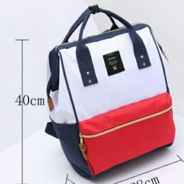 ~ ~~後拉鍊款~anello 雙肩包男女學生書包電腦包媽媽包媽咪包大容量後背包